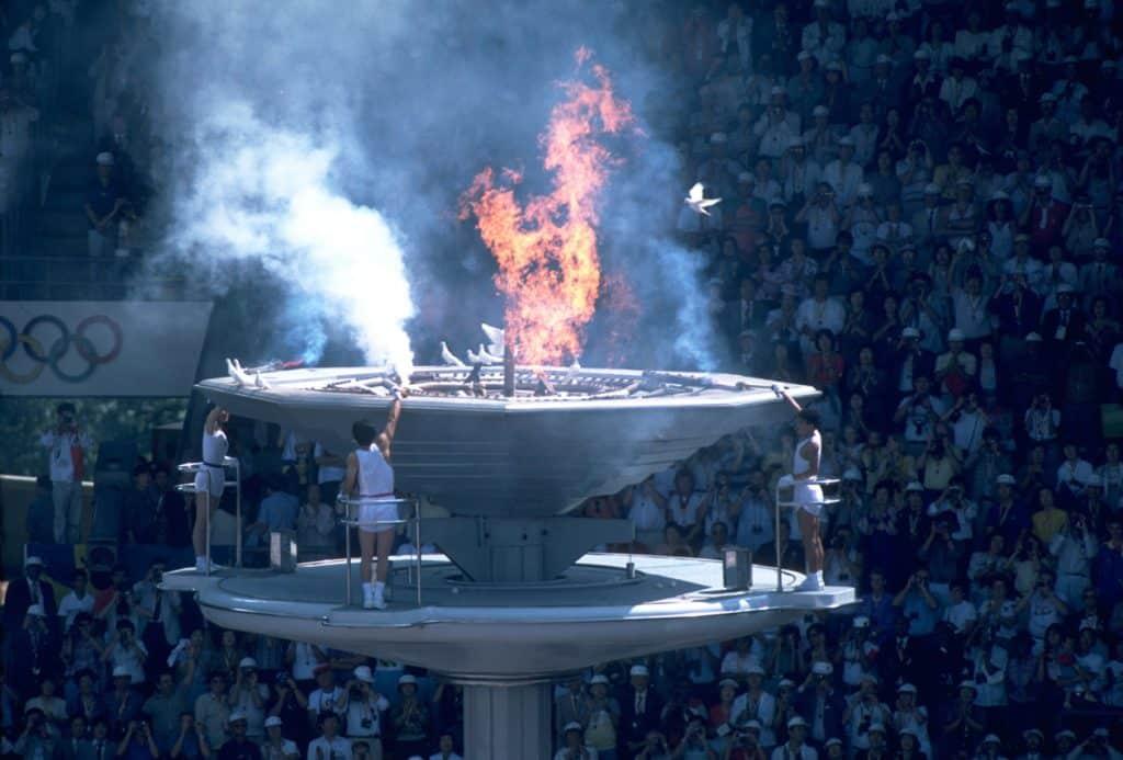cerimônia de abertura dos jogos olímpicos de seul-1988
