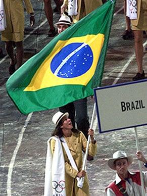 primeira porta bandeira brasileira