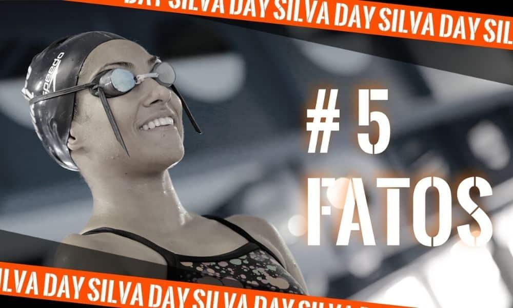 Dayanne Silva, da natação paralímpica, em sessão de fotos no CPB (Arte: Caio Poltronieri)