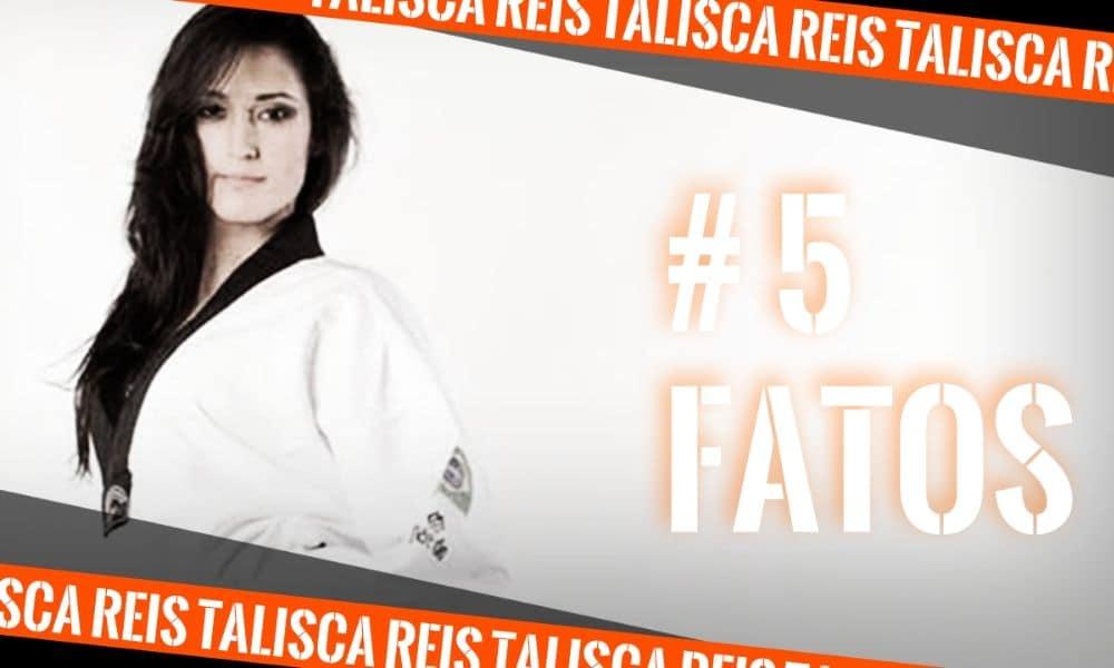 Talisca Reis, do taekwondo, na arte do quadro 5 fatos (Arte: Caio Poltronieri)