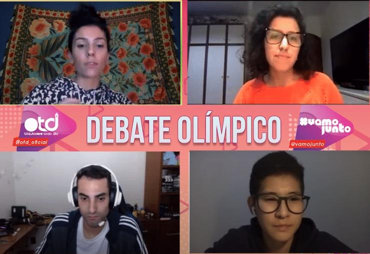 Debate Olímpico Douglas Souza Caroline Kumahara - parceria OTD e Vamo Junto