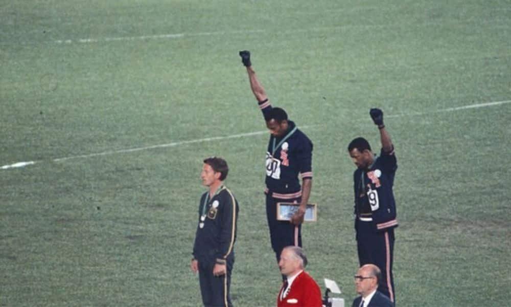John Carlos e Tommie Smith jogos olímpicos méxico 1968 movimento negro Global Athlete