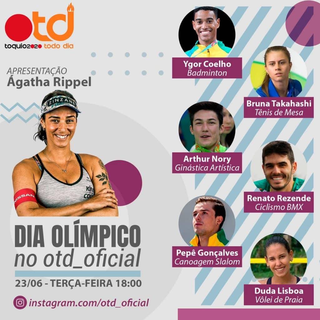 No dia 23 de junho, é celebrado o Dia Olímpico. Uma série de ações ocorrerão. Ágatha Rippel comandará live sobre Olimpismo no nosso Instagram