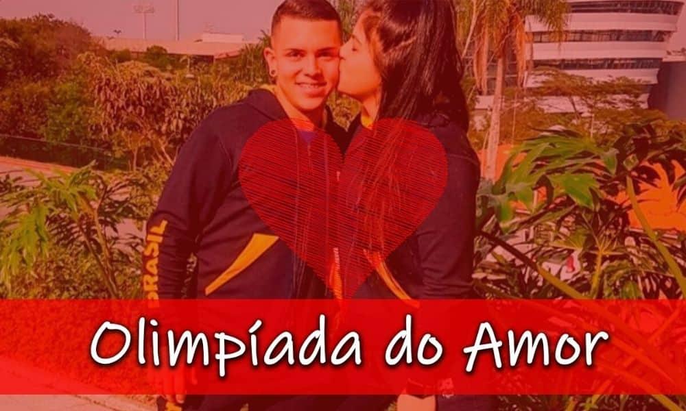 Edwarda Dias e Rogério Júnior unidos pelo amor e pelo badminton (Arte: Caio Poltronieri) - Olimpíada do Amor