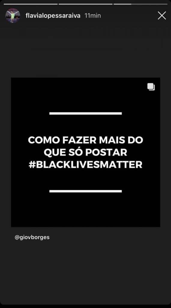 Nessa terça-feira (2), acontece o Blackout Tuesday, protesto antirracista contra a morte de George Floyd. Vários atletas brasileiros aderiram a causa