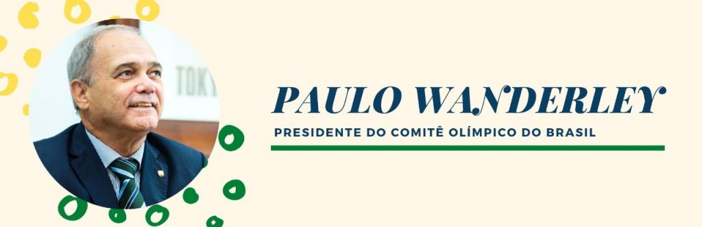 paulo wanderley, presidente do COB, escreve no OTD no dia olímpico