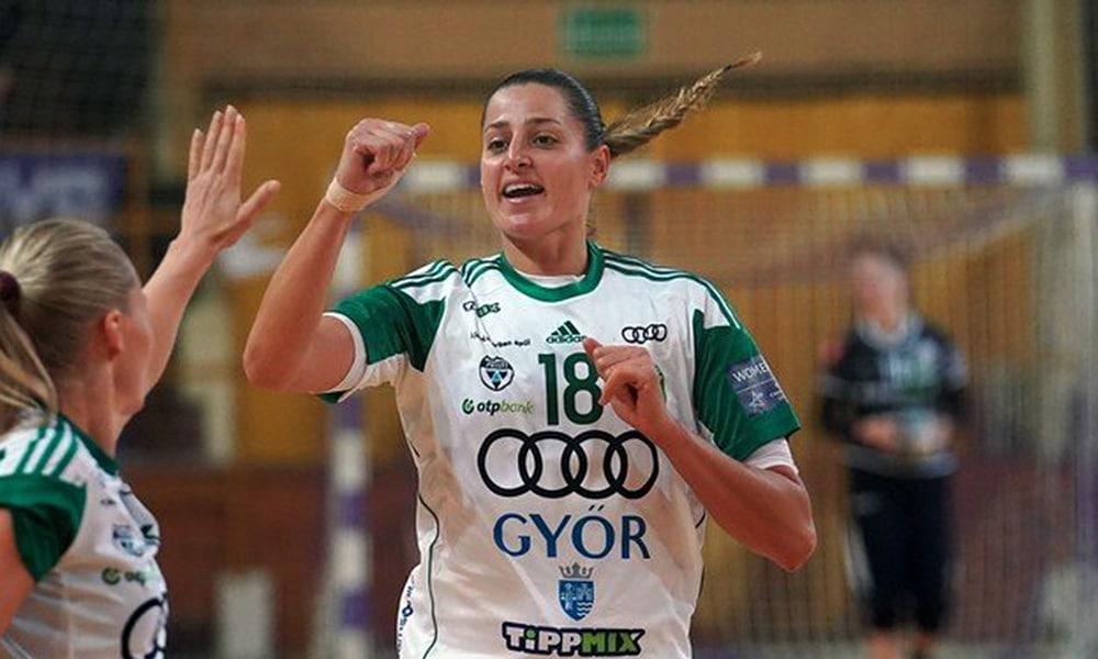 Na estreia do Campeonato Húngaro de handebol feminino, Duda Amorim e o Gyori venceram sem probleas; Caso de Covid-19 adia 1ª rodada do Espanhol masculino