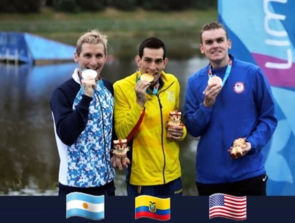 pódio maratona aquática lima-2019 bertola colonese bronze