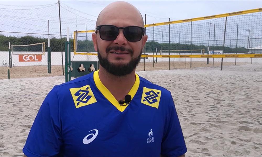 Robson Xavier técnico seleção brasileira de vôlei de praia base