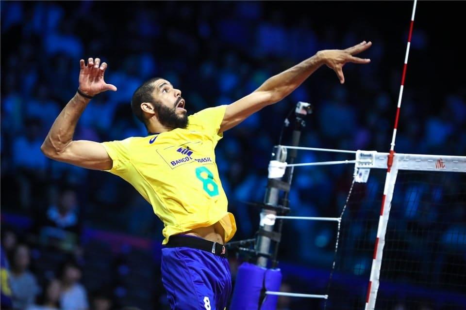 Wallace oposto seleção brasileira de vôlei masculino - Jogos Olímpicos de Tóquio 2020 - Olimpíada - Brasil