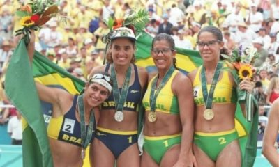 Atlanta-1996 - Vôlei de praia - Jacqueline Silva - Sandra Pires - Adriana Samuel - Mônica Rodrigues - Primeiras medalhistas femininas do Brasil