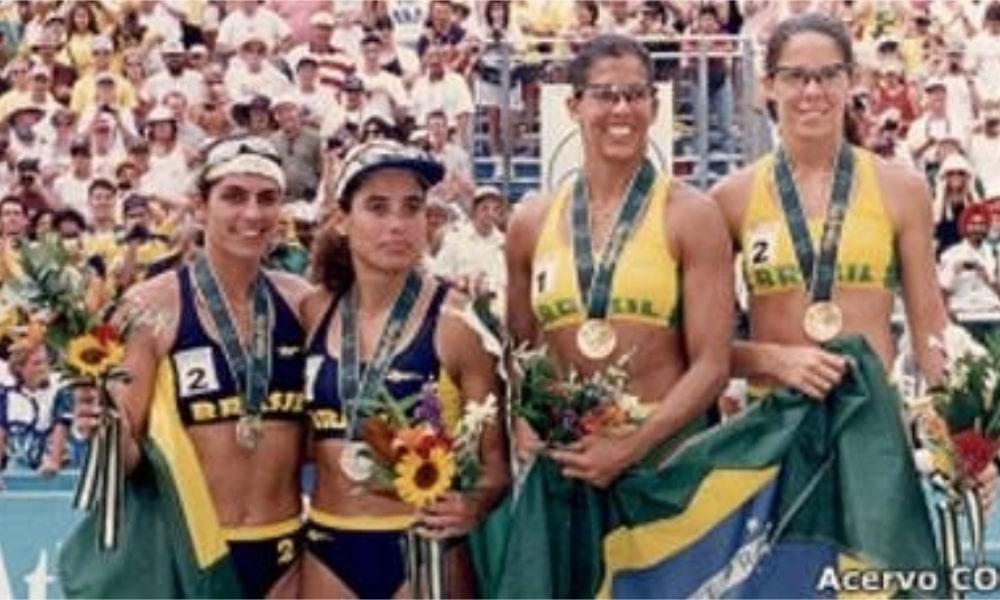 Atlanta-1996 - Jacqueline Silva - Sandra Pires - Adriana Samuel - Mônica Rodrigues - Primeiras medalhistas femininas do Brasil