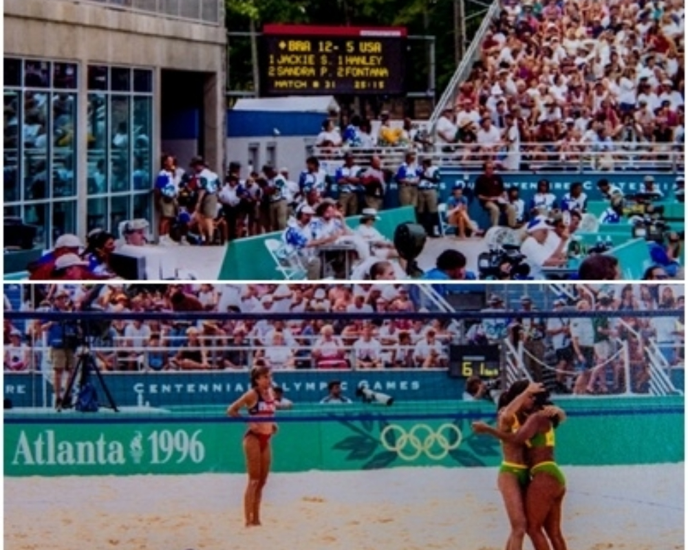 Jacqueline Silva - Sandra Pires - Atlanta-1996 - Primeiras brasileiras campeãs olímpicas