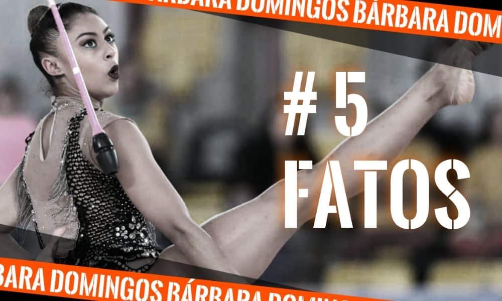 Barbara Domingos, da Ginástica Rítmica, na arte do 5 fatos, quadro do Olimpíada Todo Dia