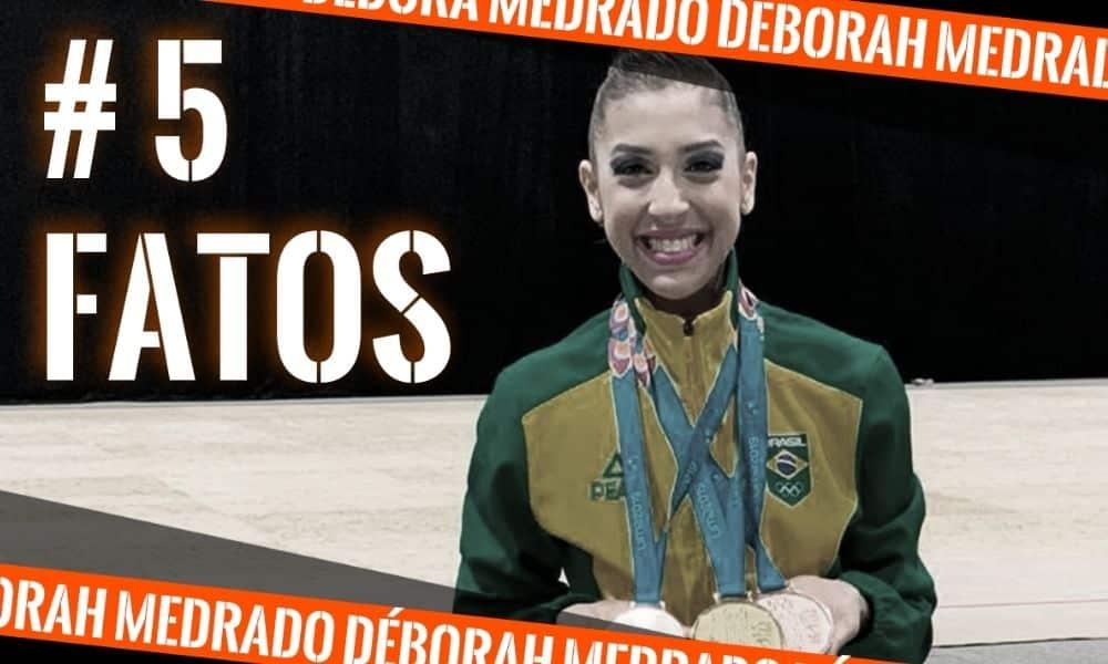 Deborah Medrado, da ginástica rítmica, na arte do 5 fatos, quadro do Olimpíada Todo Dia