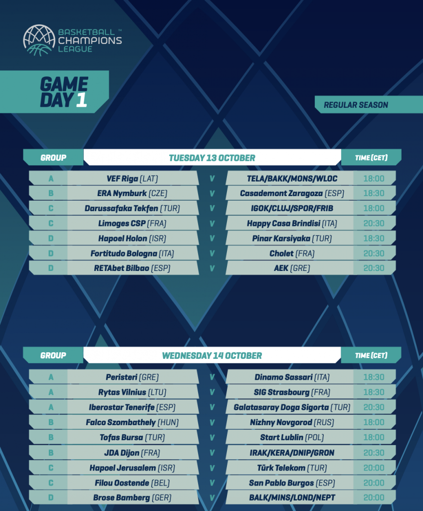 O Calendário da temporada 2020/21 da Champions League de Basquete foi divulgado. Marcelinho Huertas, Vitor Benite e Felipe dos Anjos estarão no torneio