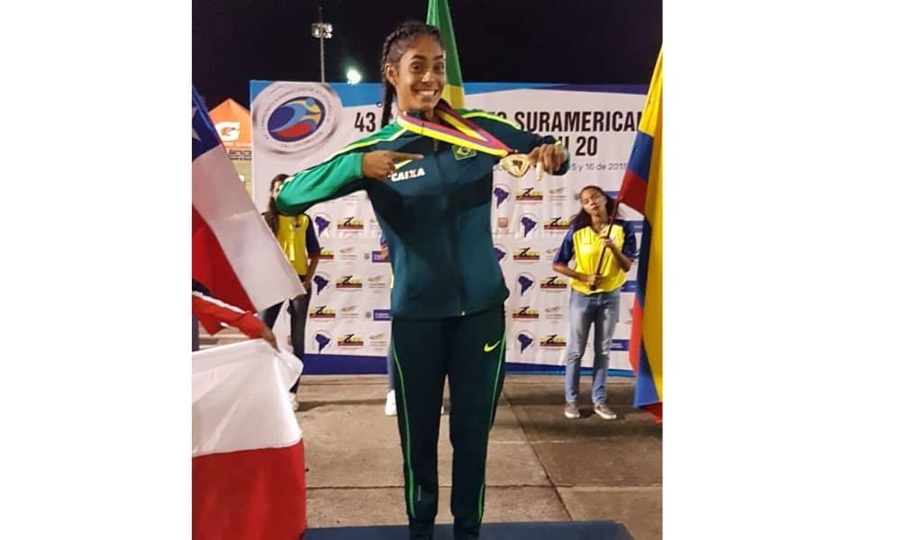 Victória Sena, ouro nos 400 m do Sul-Americano Sub-20 de Atletismo