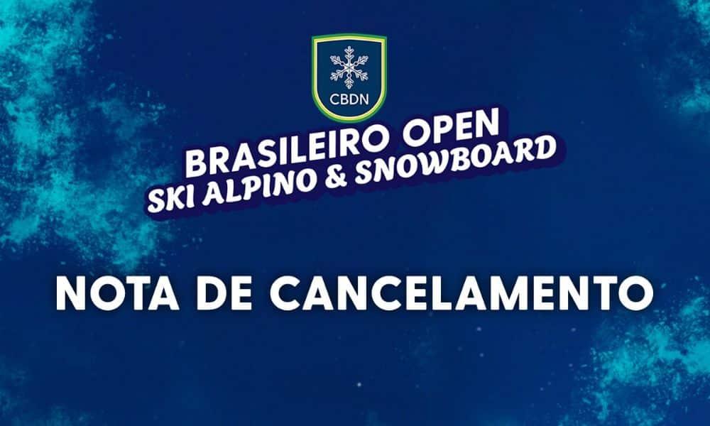 Brasileiro Open de Ski Alpino e Snowboard 2020 é cancelado neve