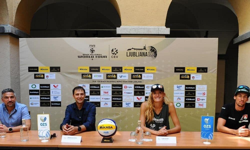 Cicuito Mundial de vôlei de praia retorna em Liubliana 1 estrela