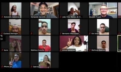Equipe de Natação do Sesi encontros virtuais