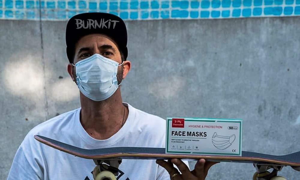 Instituto Bob Burnquist doa máscaras coronavírus