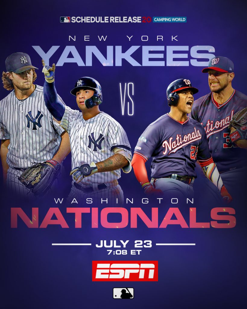 Nationals x Yankees na abertura da temporada 2020 da MLB, yan gomes