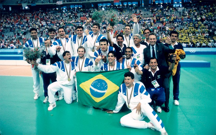 Brasil ouro Olímpico Barcelona 1982