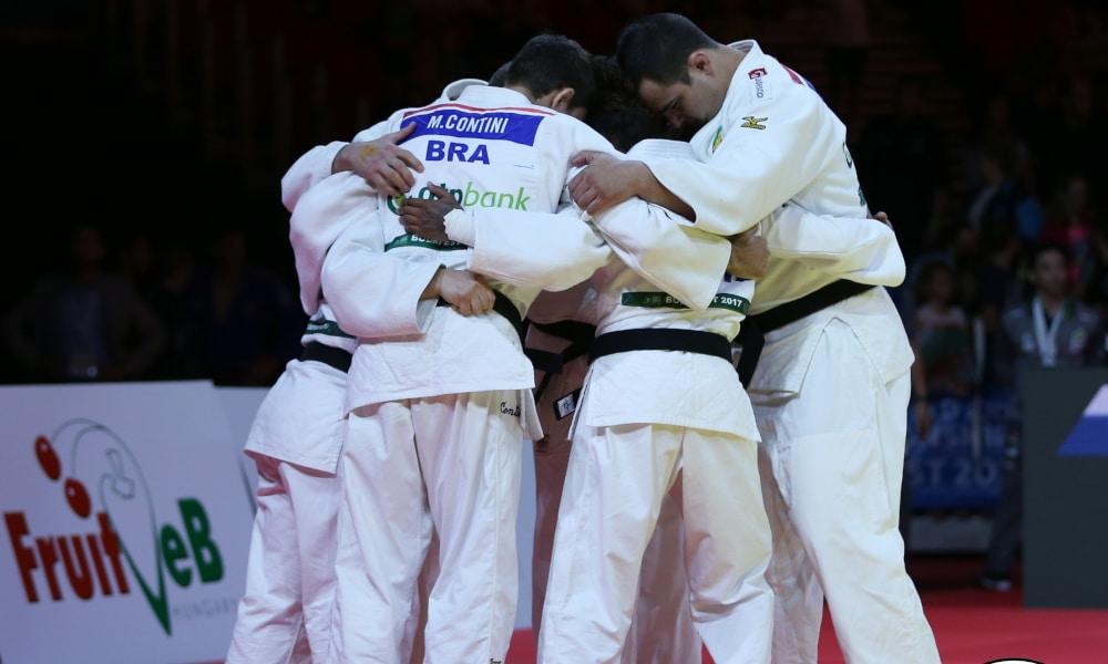 Judô Atletas Brasileiros Equipes Mistas Medalha