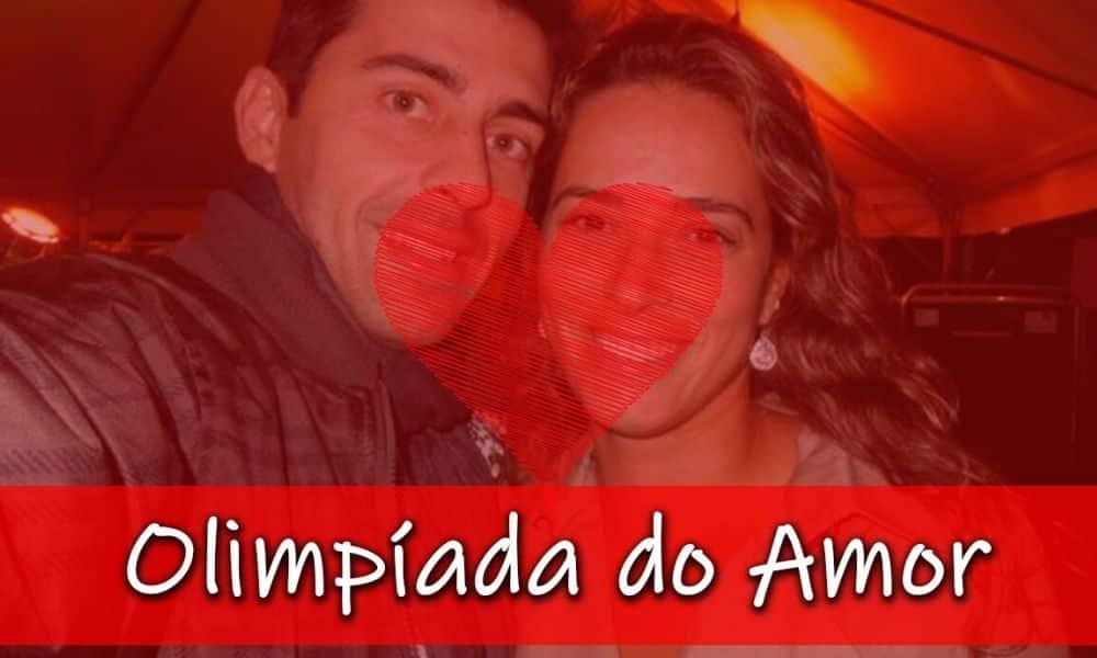 Renan e Ágatha Rippel integram o quarto capítulo do game show do OTD: Olimpíada do Amor (Montagem/Caio Poltronieri)