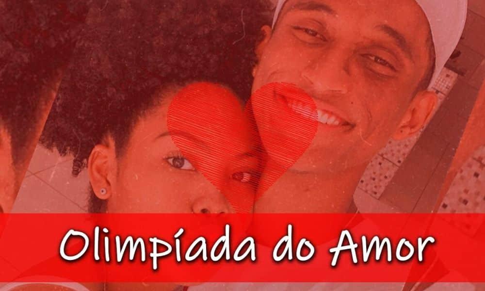O casal Alison Santos e Neris Souza, do atletismo, participam do gameshow Olimpíada do Amor (Caio Poltronieri)