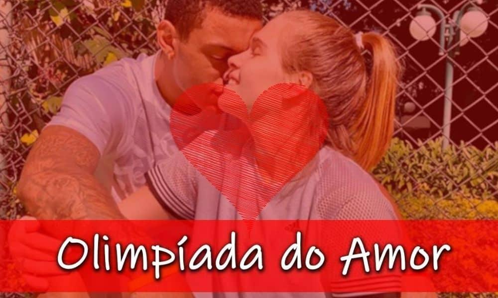 O casal Manu Frediani e Yago Mateus, do basquete e judô, participam do gameshow Olimpíada do Amor (Caio Poltronieri)