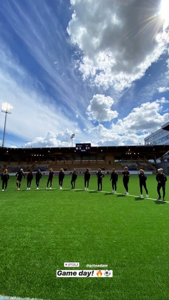 Em partida válida pela terceira rodada do Campeonato Sueco de futebol feminino, o Pitea, time de Fernandinha, venceu por 1 a 0 com gol da brasileira
