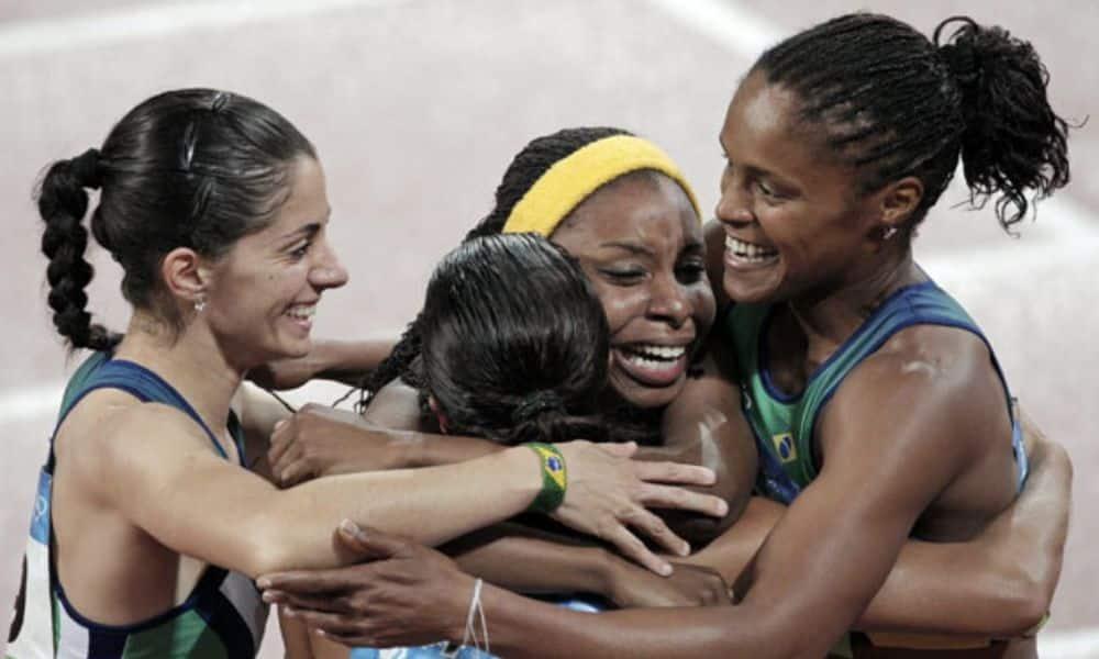 Rosangela Santos bronze Pequim 2008 - Jogos Olímpicos de Tóquio 2020 4x100m feminino 100m rasos feminino Rosângela Santos