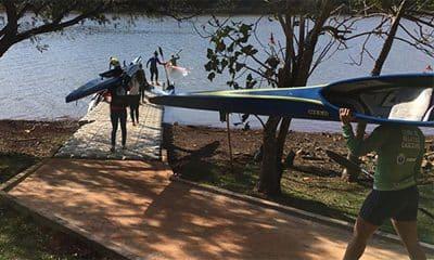 Equipe permamente caiaque feminino treinos Cascavel