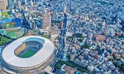 tóquio 2020 estádio nacional de tóquio Jogos Olímpicos Olimpíadas Thomas Bach COI Japão COI Jogos Olímpicos vacinas Covid-19 anéis olímpicos Estádio olímpico