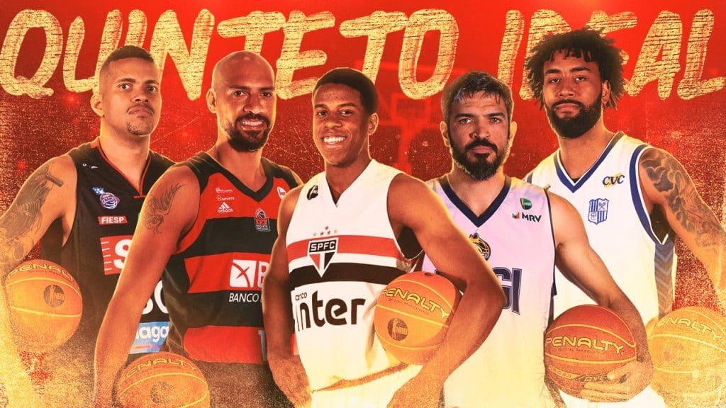 Na festa de melhores do ano do NBB, o armador do São Paulo, Georginho, foi o grande destaque. Foram cinco troféus, incluindo o de MVP (melhor da temporada)