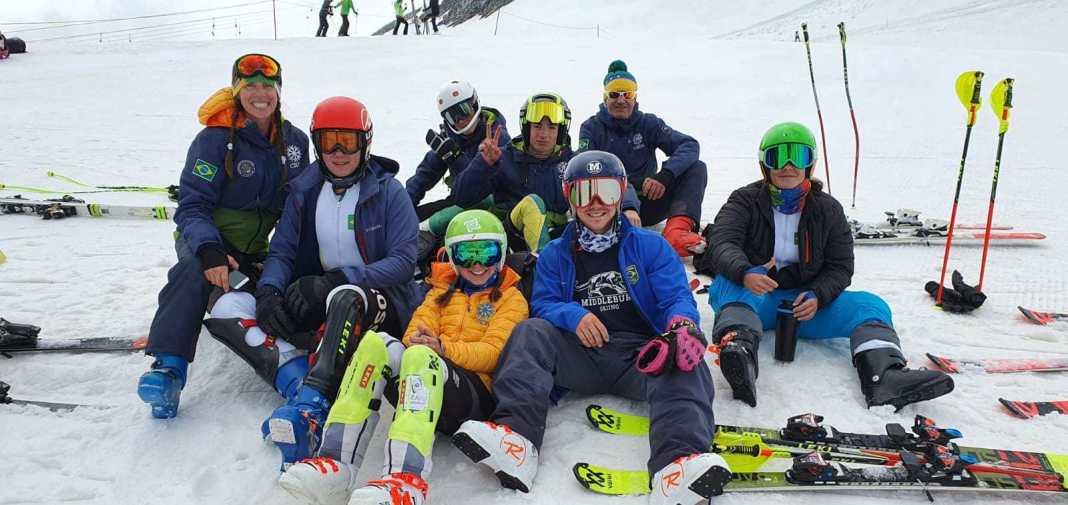 ski alpino campo de treinamento itália