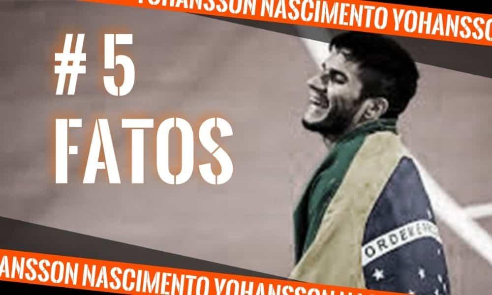 Yohansson Nascimento, do atletismo paralímpico, na arte do 5 fatos, quadro do Olimpíada Todo Dia - curiosidades - 5 fatos