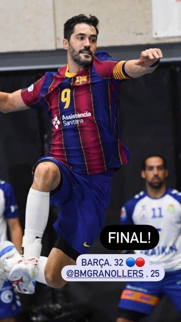 Na estreia pelo Barcelona, Haniel Langaro conquistou seu 1º título. a equipe da Catalunha, onde também joga Thiagus Petrus, venceu a Supercopa da Espanha