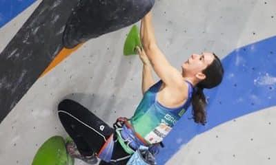 Bianca Castro acabou não conseguindo um bom resultado na retomada da escalada