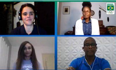 O racismo foi tema de debate na última Live Especial do COB (Comitê Olímpico do Brasil). O encontro teve Arnaldo Oliveira, Djamila Ribeiro e Iziane Marques