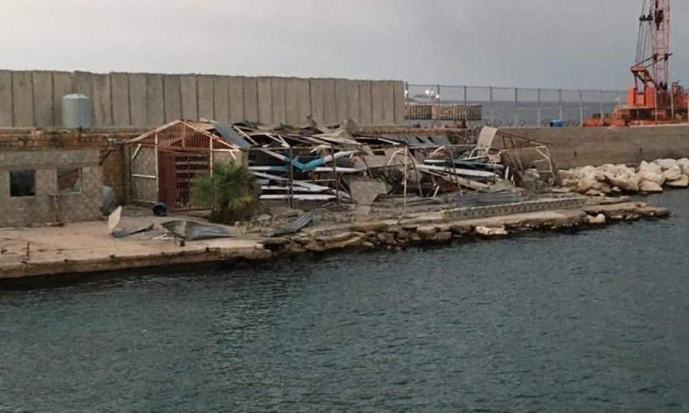 Centro Nacional de Remo do Líbano destruído pela explosão