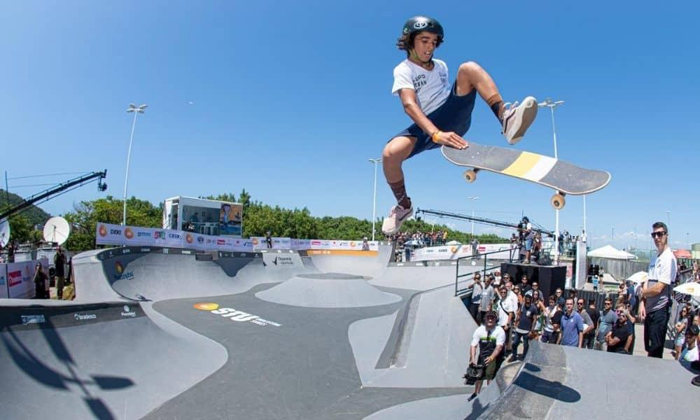 Pedro Carvalho, da seleção Sub-15 de skate park