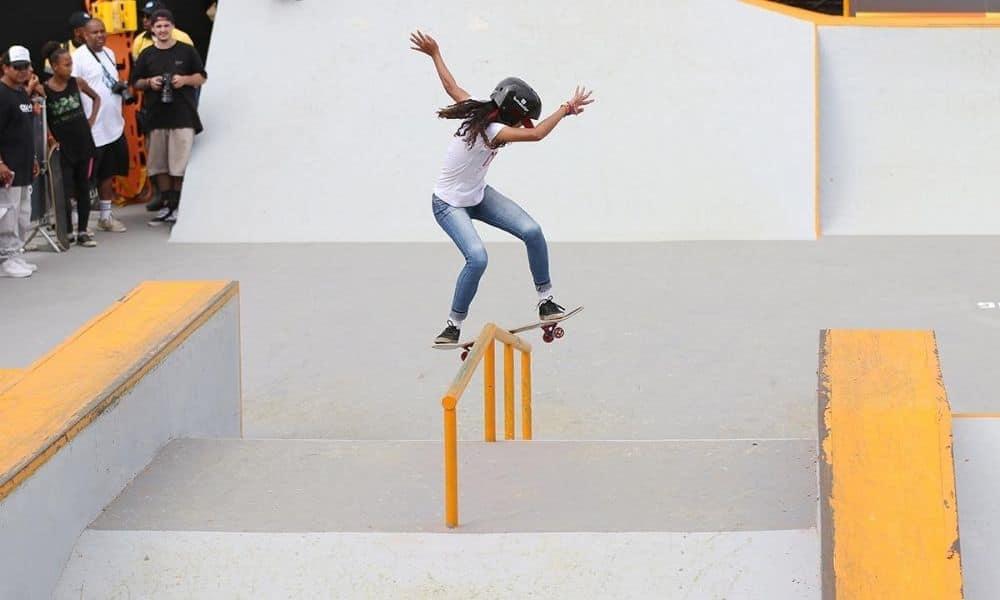 Carla Karolina, da seleção brasileira Sub-15 de skate street