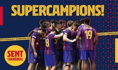 Supercopa de Handebol masculino Barcelona Thiagus Petrus Haniel