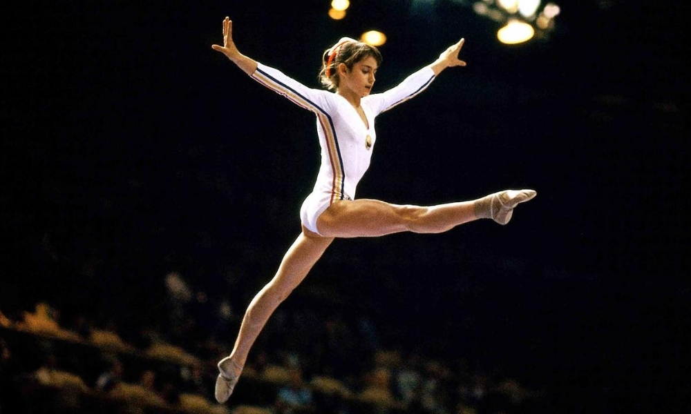 nadia comaneci trave jogos olímpicos