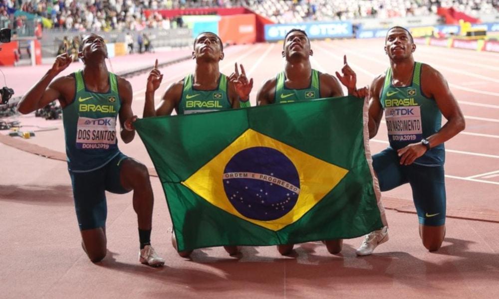 Revezamento 4x100 m Atletismo Medalha Erica Sena