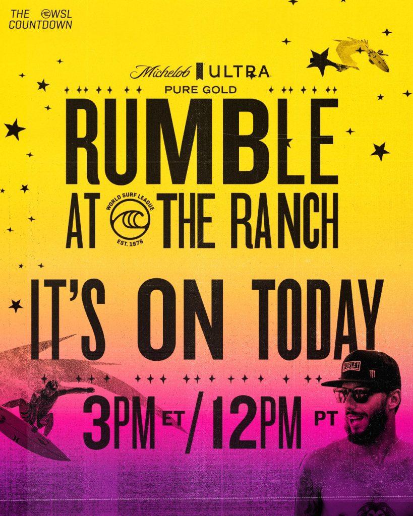 O surfe está de volta! A partir das 16h (de Brasília) neste domingo (9), acompanhe ao vivo no Olimpíada Todo Dia todas as emoções do Rumble at the Ranch