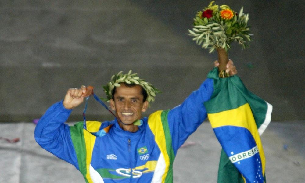 Vanderlei Cordeiro de Lima Brasileiro Medalha Bronze Atenas-2004