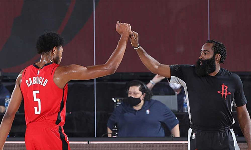 Bruno Caboclo basquete masculino NBA Houston Rockets James Harden bolha